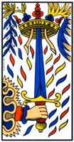 L'arcane Épée du tarot