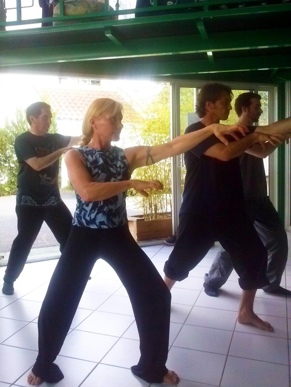 Cours de Qi Gong du Tigre à Terre d'Asie avec Catherine Bousquet