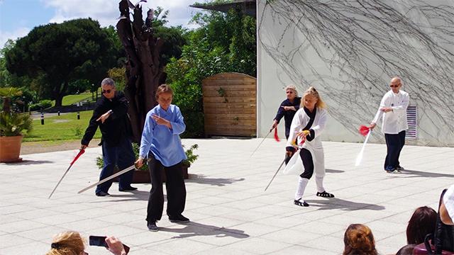 Démonstration d'épée du Wudang avec Catherine Bousquet et les pratiquants de Terre d'Asie