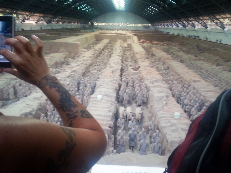 Visite à Xi An du mausolée de l'empereur Qing et de son armée de 6000 cavaliers en terre cuite, août 2016
