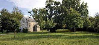 La chapelle d'Heugas dans Les Landes