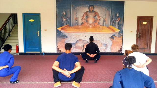 Dan Dao avec Wei Zi, disciple de Maître Yuan Li Min au Wudang, août 2016