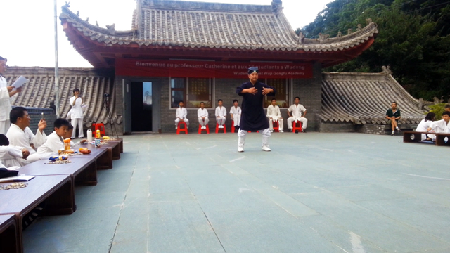 Démonstrations d'arts martiaux et de Qi Gong par Maître Chen Li Sheng et ses étudiants, aout 2016